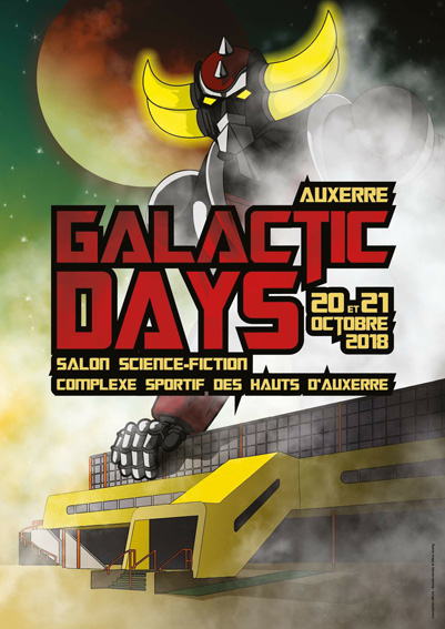 affiche auxerre galactic days 2018